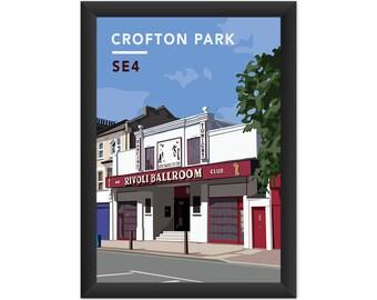 Crofton Park Rivoli Ballroom SE4 - Giclée Art Print - South London Poster