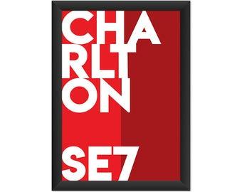 Charlton Typography SE7 - Giclée Art Print - South London Poster