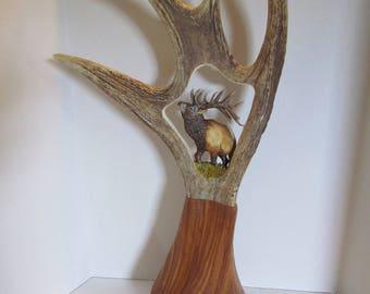 1 moose antler carving
