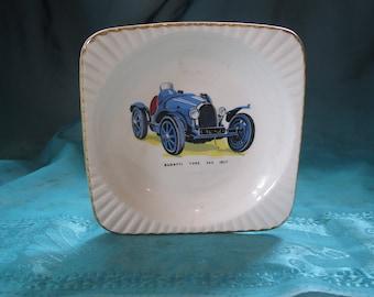 Bugatti Type 35C 1927 Empire Ware VIntage Ashtray/DIsh Made in England