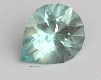 2.7ct aqumarine Loose Gemstone, cut in U.K. for collectors and bespoke jewellery