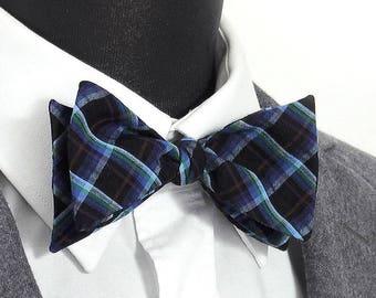"""Bow tie 100% cotton tartan """"Eugène"""" / """"Eugene"""" tartan cotton Bow Tie"""