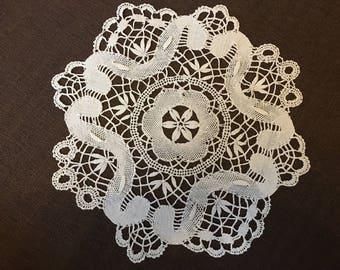 Vintage French Lace - kalofer lace - Handmade Lace - Table Decoration