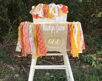 Fall Birthday Banner and Tutu. Pumpkin Birthday. Pumpkin Turns One