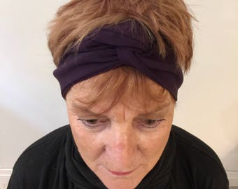 Womens Aubergine Gabardine Headband - 2017 Fall Fashion Hair Accessory