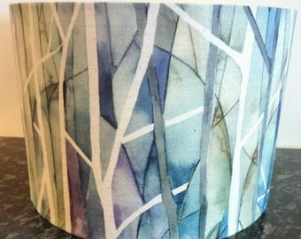 Voyage  Fabric Lampshade Drum Woodbury Skylark Light Shade UK Lamp