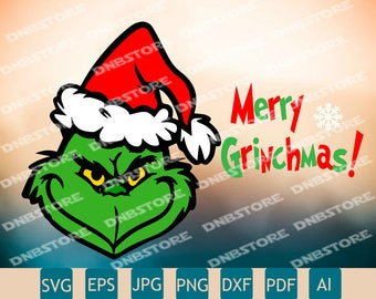 Merry Grinchmas Svg | Grinch Svg | Mr Grinch | Christmas Svg | Cricut | Printable | Insta Download