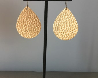 Teardrop Earring- Textured Gold