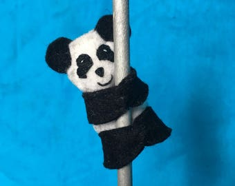 Panda puppet pencil topper
