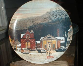 Vintage  Norman Rockwell's  Stockbridge In Winter  #3  Collectible Plate
