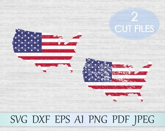 American map svg, USA svg, American flag svg, Patriotic svg, American flag print, American cut file, USA cut file, SVG Cut File
