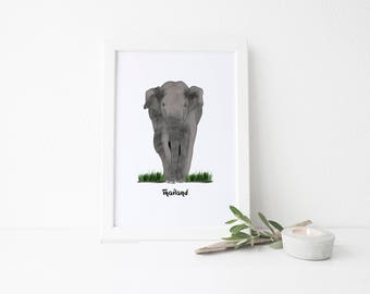 Thailand Travel Art Print - Elephant