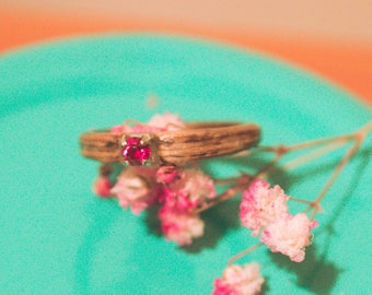 Wood handcrafted ring