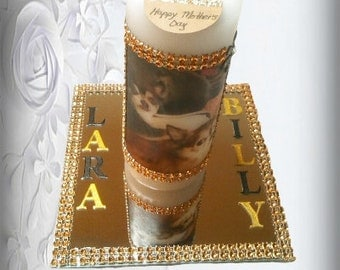 Photo Pillar Candle