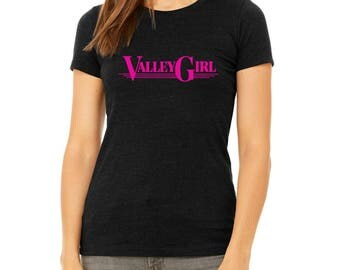 Valley Girl Black Women's T-Shirt