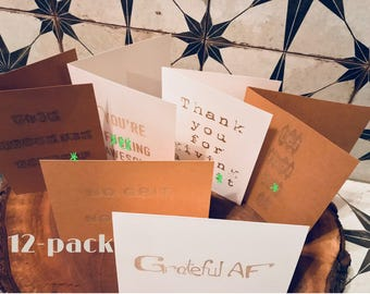 12-Pack Gratitude and Encouragement Batch greeting cards