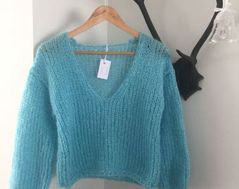Turquoise Short, handmade
