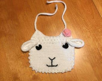 Crocheted Lamb Bib