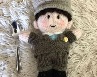 Groom knitted doll