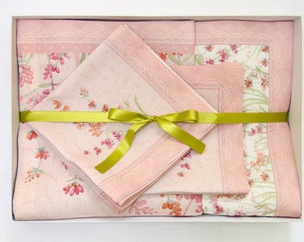 "100 linen Tablecloth with 6 napkins (4'7.11""x 6'6.74"") (Tablecloth) (15.74""x 15.74"")(napkins)"