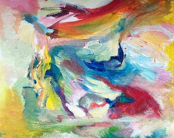 reproduction of abstract painting 20 x 30 cm