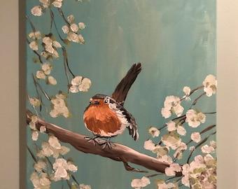 Robin bird painting
