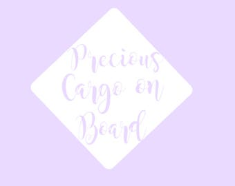 Precious Cargo on Board Decal