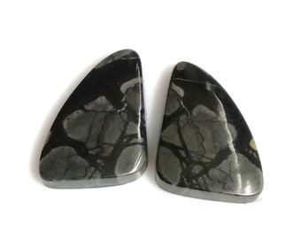 Picasso Jasper Fancy, Pair Cabochon,Size- 17x13 ,MM,Natural Picasso Jasper, AAA,Quality  Loose Gemstone, Smooth Cabochons.