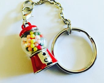 Gum ball machine keychain