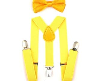 Bow tie and suspenders set/ boy/baby/toddler/ wedding accessories/ring bearer.
