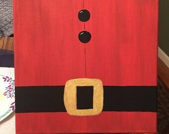10x10 Santa's Belt Acrylic Painting on Canvas