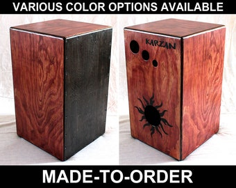 12x20 Two-Chamber Cajon Box Drum (Made To Order)