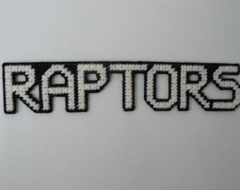 RAPTORS in Handmade Needlepoint Sports Magnets