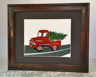 SC  Red Truck Christmas Tree