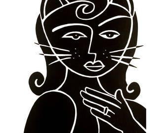Cat Lady   18x24