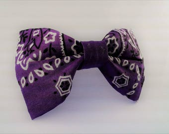 Purple Bandana Bow