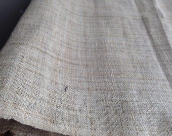 Hmong hemp EXTRA WIDE - Handwoven natural dye fabric soft cool hill tribe organic - Light yellow