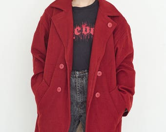 VINTAGE Hot Red Retro Coat