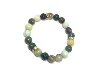 Green bracelet - stone bracelet