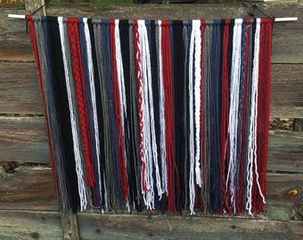 Bohemian Wall Hanging, Red White & Blue, Patriotic Decor, Home Decor, Wall Hanging