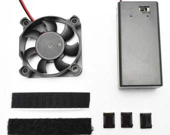 "2.0"" Cooling Fan Kit - For Helmet - 9V battery powered - Assembled"