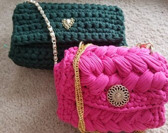 Pink and green bags/ purses