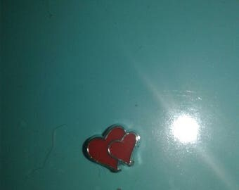 Heart floating charms