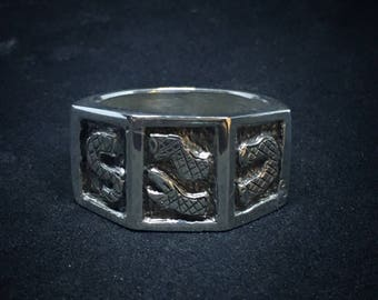 3-Sided Snake ring
