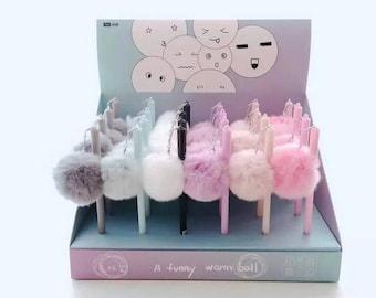 Cute Fur Ball Gel pen- 1 pc