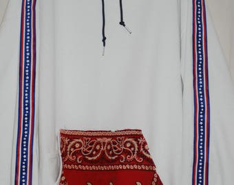 long strap hoodie with bandana pouch