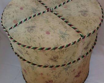 Vintge Mid Century Cushion Stool / Ottoman / Foot Stool / Yugoslavia 60s