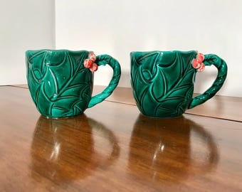 Lefton China Holly and Berry Cups