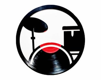 Drum Set Vinyl Record Art