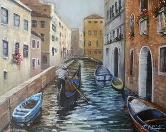 Venice - Limited Edition Giclee Print on Stretched Canvas